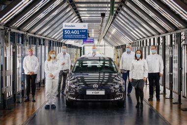 Volkswagen прекратил производство электрического e-Golf