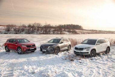 Mazda CX-9 против Kia Sorento и Skoda Kodiaq. За что доплата в миллион?