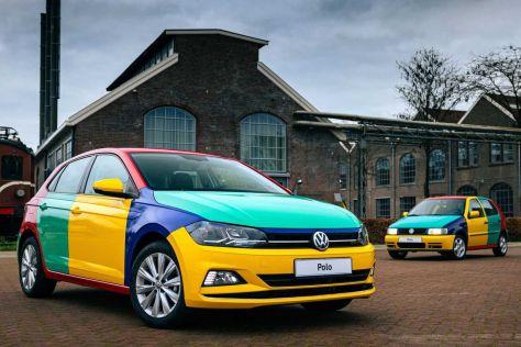 Volkswagen Polo снова раскрасили в «Арлекина» — в честь рекламной машины 1995 года