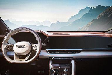 Geely опубликовала фотографию интерьера семиместного кроссовера KX11 на базе Volvo