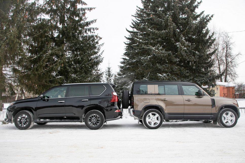 Land Rover Defender 110 vs Lexus GX 460. Несущий кузов против рамы