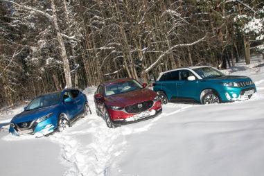 Mazda CX-30 против Nissan Qashqai и Suzuki Vitara. Плюс один