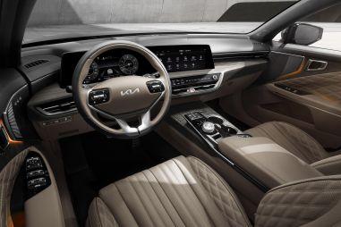 Kia поделилась официальными фотографиями интерьера полноразмерного седана K8