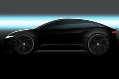 Volkswagen показал первое изображение будущего флагманского электроседана