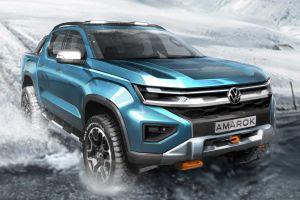 Volkswagen Amarok следующего поколения: новые наброски