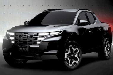 Hyundai показала первые изображения легкого пикапа Santa Cruz