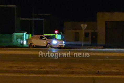 Светодиодную оптику Lada Vesta FL впервые сфотографировали ночью