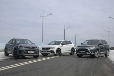 Geely Tugella, Mitsubishi Outlander и Volkswagen Tiguan. Война миров