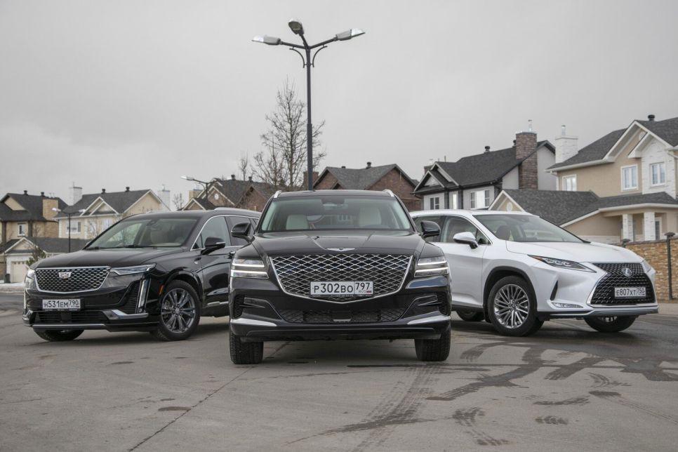 Genesis GV80 против Cadillac XT6 и Lexus RX 350L. Новое имя в классе «Люкс»