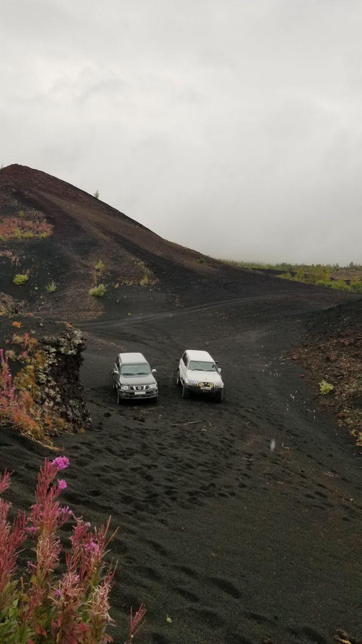 Места вулканической активности Влк Толбачик 1975го года