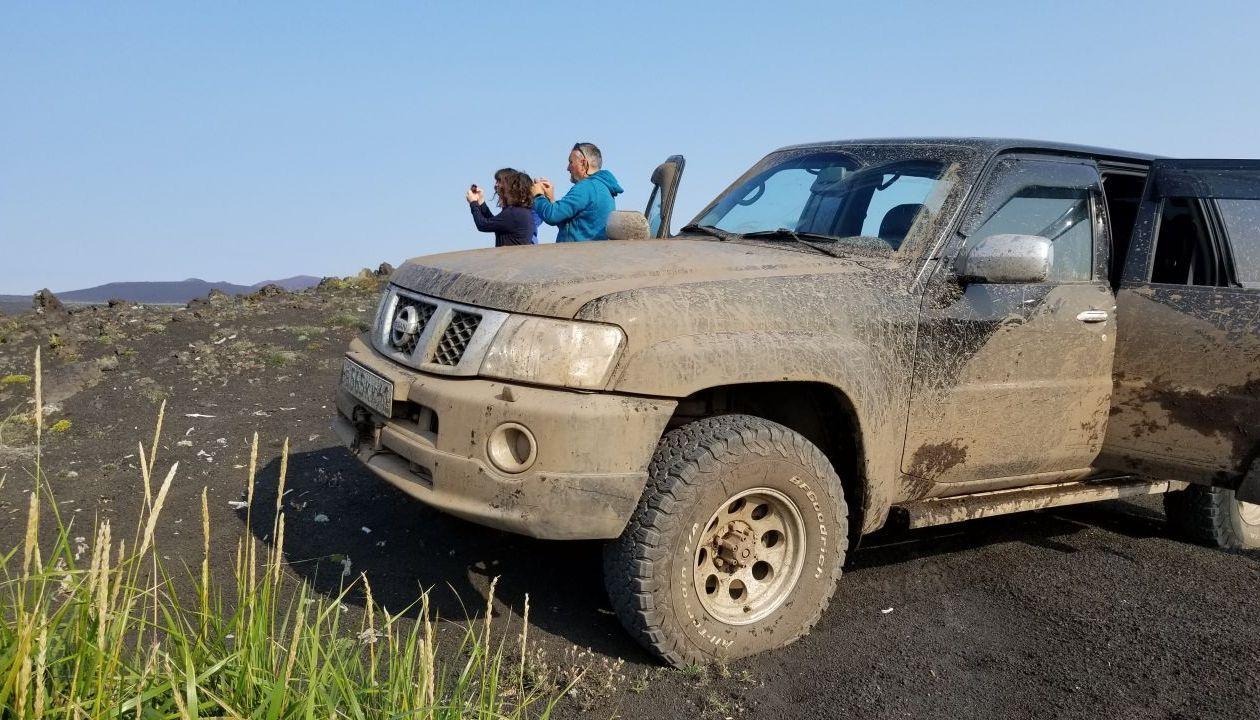 а это мы на подЪезде к вулкану Толбачик