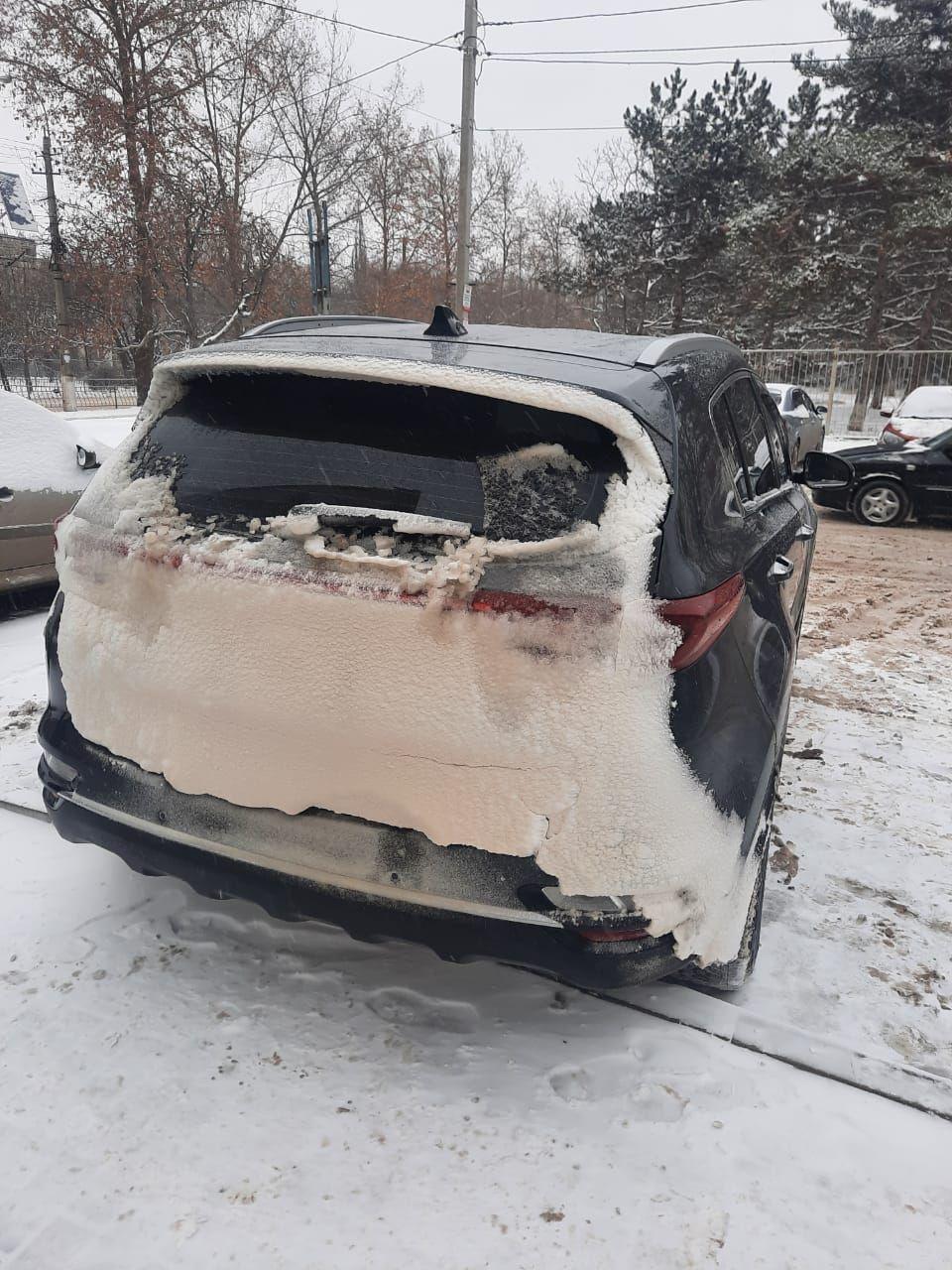 200 км дороги по снегу и льду на автомагистрали Таврида