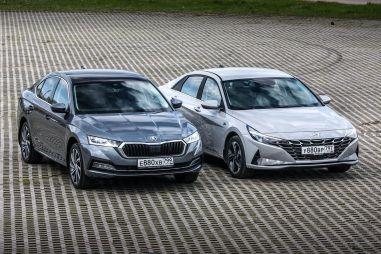 Skoda Octavia и Hyundai Elantra. За что доплата в 382 тысячи?