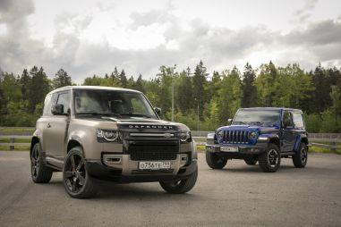 Jeep Wrangler Rubicon против Land Rover Defender 90. Коротыши