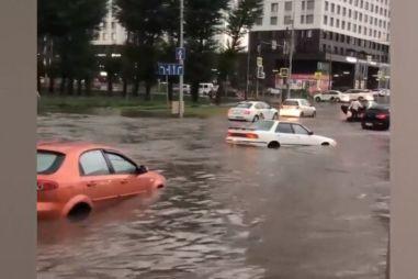ВИДЕО: потоп 20 июня в Красноярске