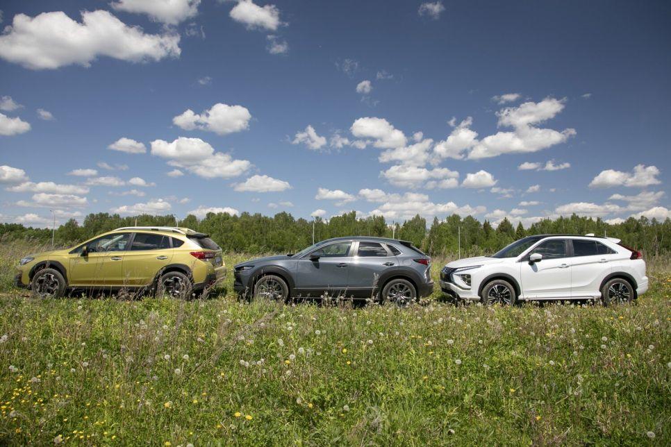 Mazda CX-30 vs Mitsubishi Eclipse Cross vs Subaru XV. Стильно и дорого