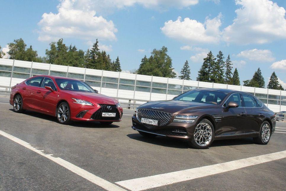 Genesis G80 против Lexus ES 350. Переростки