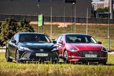 За «баржу» ответишь! Сравнительный тест Toyota Camry vs Hyundai Sonata