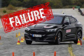 Ford Mustang Mach-E не справился с «лосиным тестом». ВИДЕО