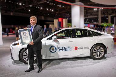Toyota Mirai поставила рекорд Гиннесса по запасу хода