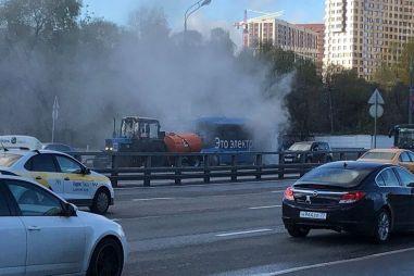 В Москве — третий случай возгорания электробуса за месяц