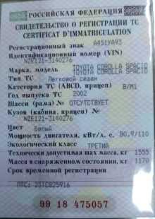 Тимашевск Corolla Spacio