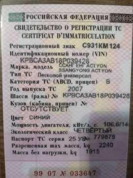 Томск Actyon 2007