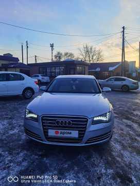 Кызыл Audi A8 2011
